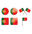 badges with flag of Portugal vector image vector image