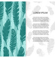 bird feathers banner or poster design - brochure vector image