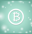 bitcoin white symbol bit coin banking system vector image vector image