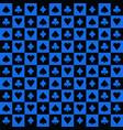 blue black poker suits background vector image vector image
