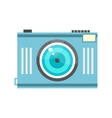blue photo camera in retro style vector image vector image