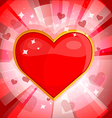 Bright background with heart 2 vector image
