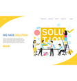 business solution landing page website vector image