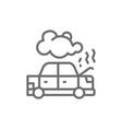 car broke down automobile smoking under hood vector image vector image