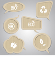 Cardboard speech bubbles vector image