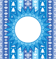 christmas ornamental background vector image