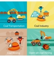 Coal industry concepts vector image