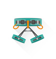 color alpinism equipment harness icon vector image