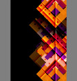 colorful triangles and arrows on dark background vector image