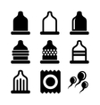 Condom Icons Set vector image