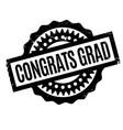 congrats grad rubber stamp vector image vector image