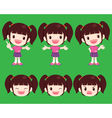 cute girl actions vector image vector image