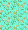 Daisy flower in sketch style vector image vector image