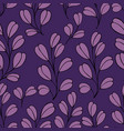 decorative seamless pattern with branches on a vector image