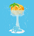 delicious ice cream in cups vector image vector image