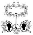 design element wedding heart flourishes 2 vector image vector image