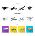 design of plane and transport logo set of vector image