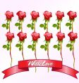 dozen red roses vector image vector image