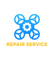 drone repair service icon on white vector image