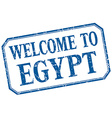Egypt - welcome blue vintage isolated label vector image vector image