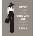 Fashion woman with quote vector image vector image