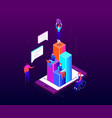 Financial growth - modern colorful isometric