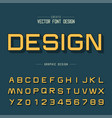 font and alphabet design typeface letter vector image vector image