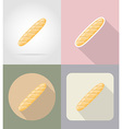 food objects flat icons 12 vector image