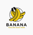 fresh banana fruit logo vector image