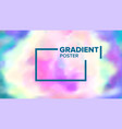 gradient fluid background modern sreen vector image vector image