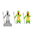 guan yu - chinese warrior isolated on white vector image vector image