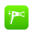 hairdryer icon digital green vector image vector image