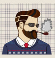 hand drawn hipster man concept vector image
