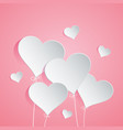 Heart balloon on pink background