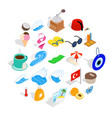 holiday in turkey icons set isometric style vector image vector image