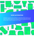 home automation banner template in line style with vector image