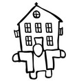 house holder drawing vector image vector image