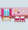 interior of room with furniture and equipment vector image