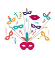 isolated mask of celebration design vector image vector image