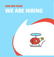 join our team busienss company helicopter vector image