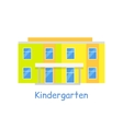 Kindergarten Building Isolated on White vector image