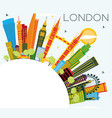 london england city skyline with color buildings vector image vector image