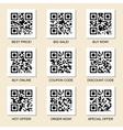Marketing QR codes set vector image