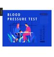 medical tests blue template - blood pressure test vector image