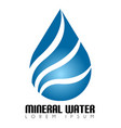 mineral water logo vector image vector image