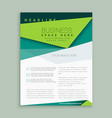 modern green flyer design leaflet annual report vector image