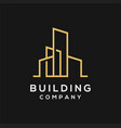 modern real estate logo template with line art vector image vector image