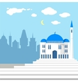 mosque on background islamic city vector image vector image