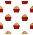 muffin with raisins pattern seamless vector image vector image
