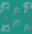 music notes background cartoons vector image vector image